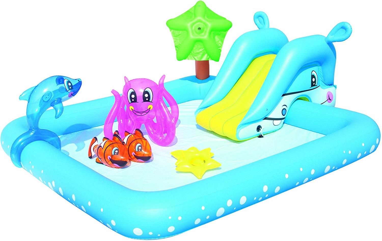 Piscina hinchable infantil fantastic con tobog n 3 a os for Piscinas desmontables hinchables