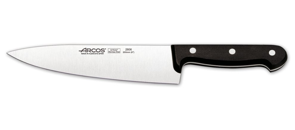 Cuchillo cocinero profesional 20 cm arcos 280604 brico reyes - Cuchillos de cocina arcos ...