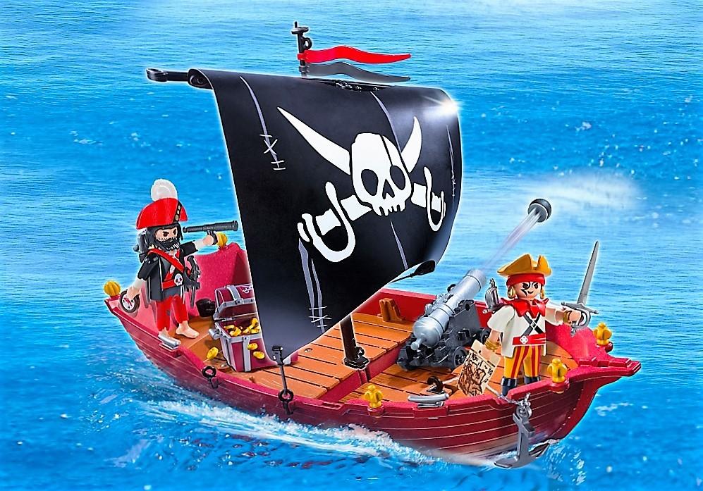 Playmobil 5298 barco corsario con armas y cofre brico reyes for Barco pirata playmobil