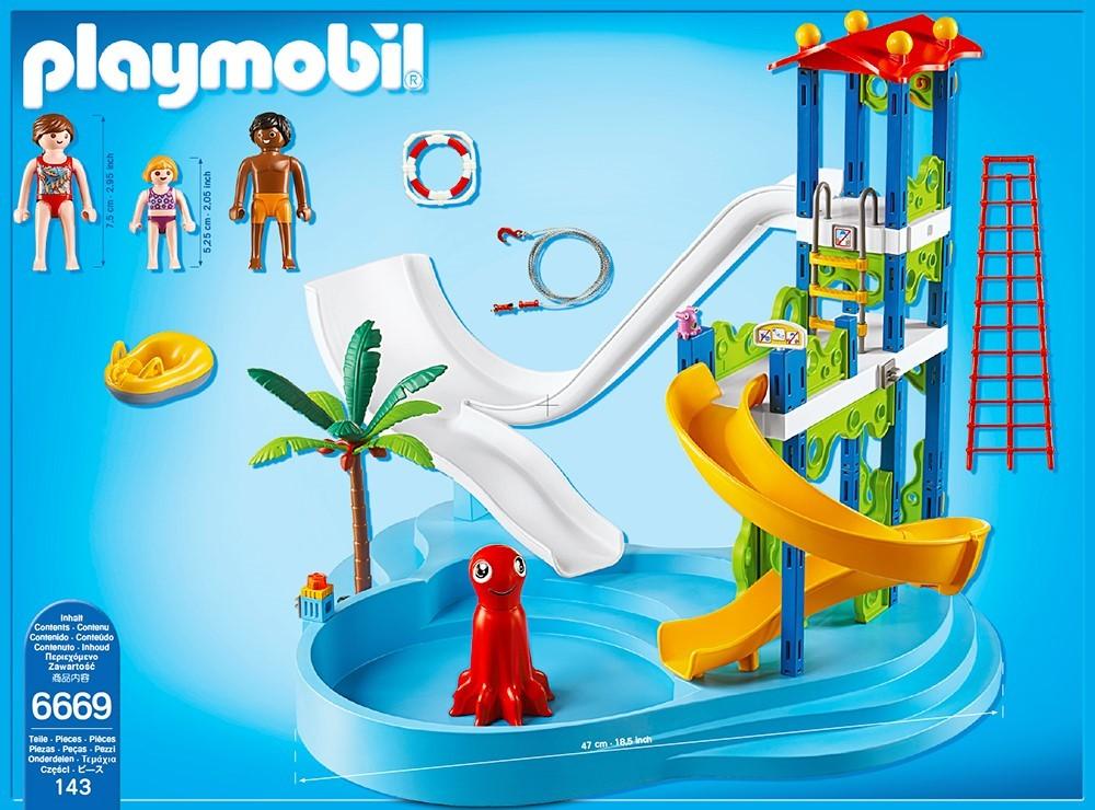 Playmobil 6669 parque acu tico con tobog n y m s brico for Playmobil piscina con tobogan