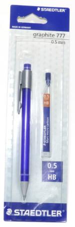 Portaminas grafito 777, con 12 minas HB/0'5 mm, Staedtler