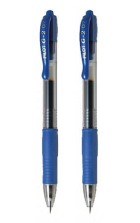 Blíster 2 bolígrafos Supergrip, tinta base aceite, color azul, Pilot
