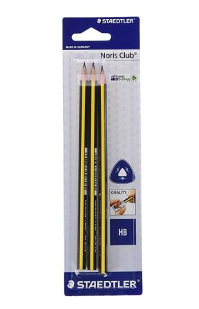 Set 3 lápices de grafito HB de Staedtler