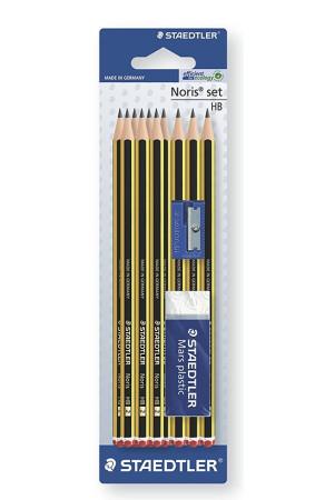 Set con 10 lápices, sacapuntas y goma de Staedtler