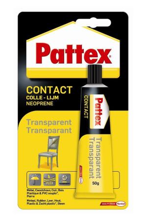 Pegamento de contacto transparente, 50 g, Pattex