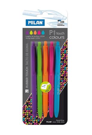 Surtido 5 bolígrafos colores P1 touch de Milan