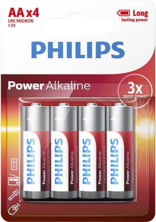 Phillips, pack 4 pilas LR6, AA