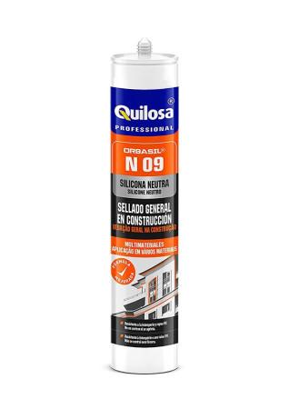 Silicona neutra Orbasil N09, translúcida, uso construcción, 300 ml, Quilosa