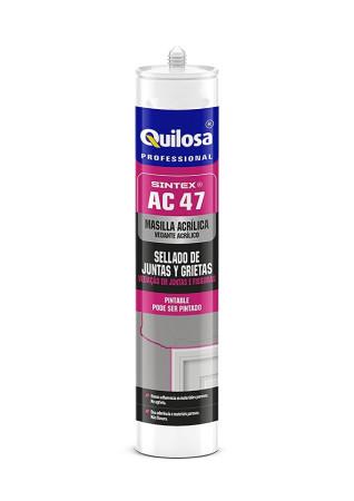 Masilla acrílica Sintex AC 47, color blanco, 300 ml, Quilosa