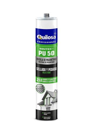Masilla poliuretano Sintex PU-50, color gris, 300 ml, Quilosa