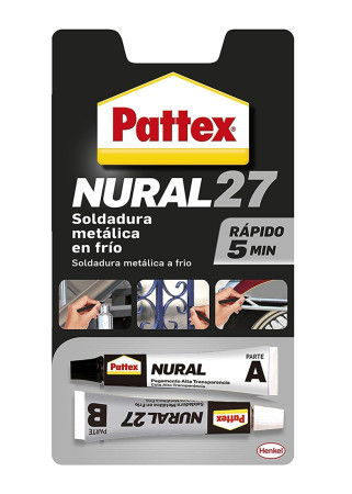 Soldadura metálica en frío Nural 27, 22 ml, Pattex