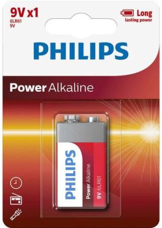 Phillips, pila 6LR61, 9V