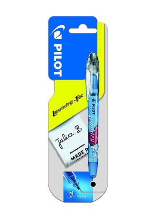 Marcador textil de tinta permanente azul de Pilot