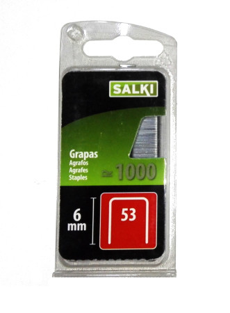 Grapas en blíster 53/6 mm de Salki 86805306