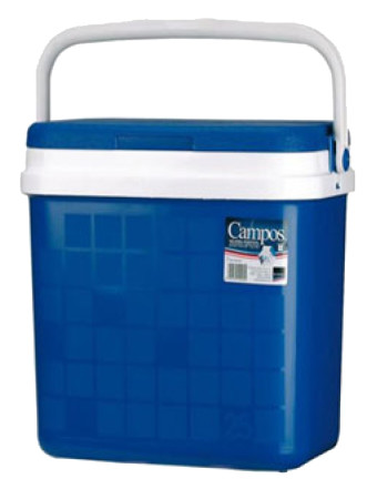Nevera portátil rígida 24 L, polipropileno azul. Campos 24 litros