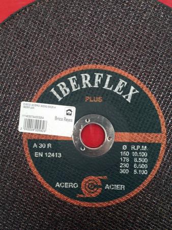 Disco de corte para acero, Ø300, eje de 25 mm. Iberflex Plus A30