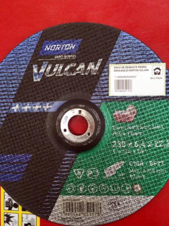 Disco de desbaste para piedra, Ø230. Norton Vulcan C30R-BF27