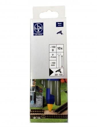 Barras de silicona transparente Lux Tools 381