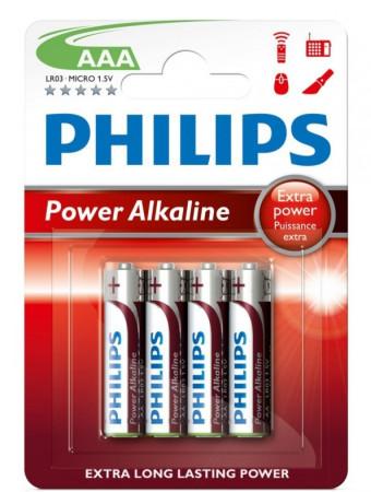 Phillips, pack 4 pilas LR03, AAA