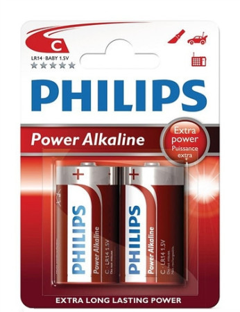 Phillips, pack 2 pilas LR14, C