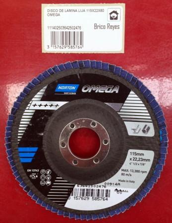 Disco abrasivo de láminas grano 60, Ø115. Para acero. Norton 13743