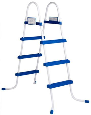 Escalera portátil para piscina, estructura de acero reforzado, 107 cm. Intex 28061
