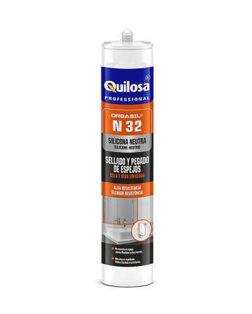 Silicona Orbasil para espejos, 300 ml, translúcido, Quilosa