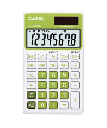 Calculadora electrónica de bolsillo, color verde, Casio