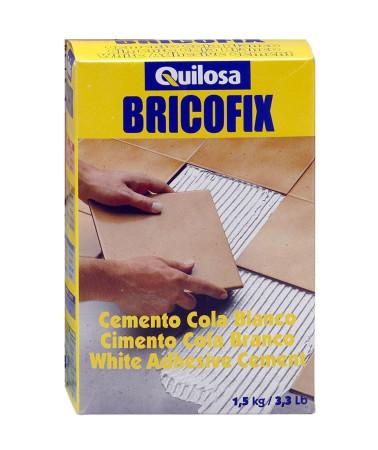Cemento cola blanco Bricofix, 1'5 kg, Quilosa
