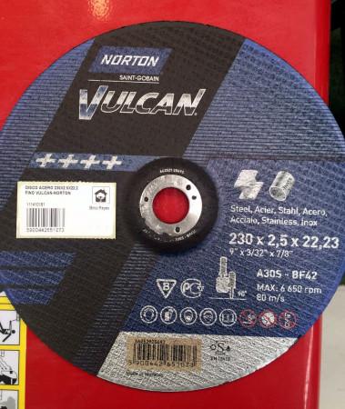 Disco de corte para acero, Ø230. Norton Vulcan A30S-BF42