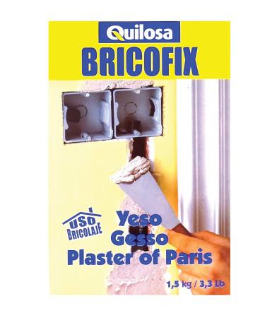Yeso Bricofix, 1'5 kg, fraguado rápido de Quilosa