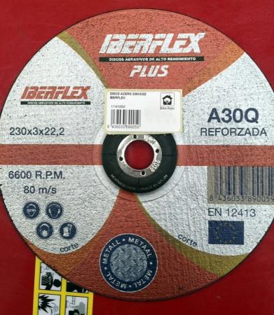 Disco reforzado de corte para metal Ø230. Iberflex A30Q