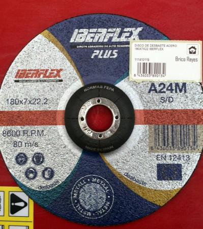 Disco de desbaste para metal, Ø180. Iberflex A24M