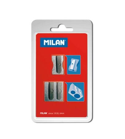 Blíster 2 sacapuntas de aluminio de Milan