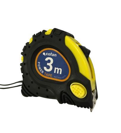Flexómetro gancho magnético, 3 m x 16 mm de Cofan 10533016