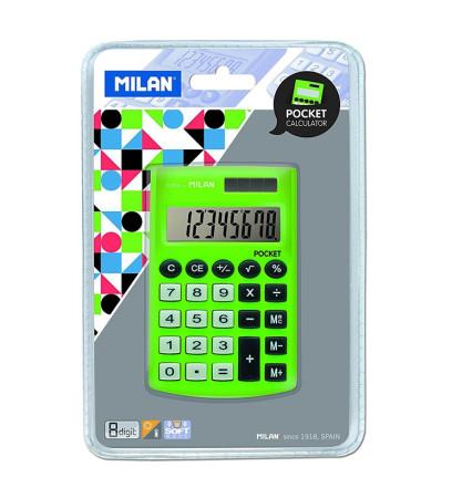 Calculadora bolsillo color verde de Milan