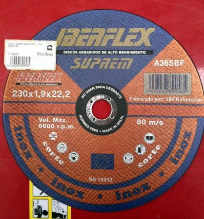 Disco de corte para metal + acero Ø230. Iberflex A36SBF