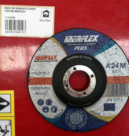 Disco de desbaste para acero, Ø115. Iberflex A24M