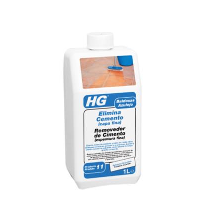 Elimina cemento de HG