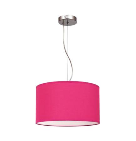 Lámpara colgante de techo, serie Nicole, color fucsia, de Fabrilamp