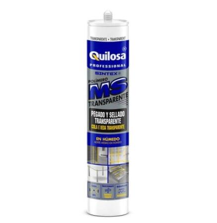 Adhesivo de polímero MS35 translúcido, 300 ml, Quilosa