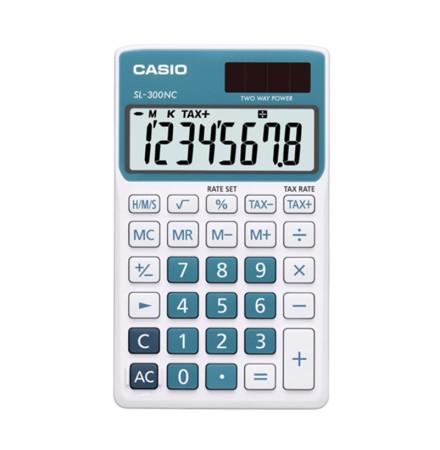 Calculadora electrónica de bolsillo, color azul, Casio