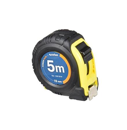 Flexómetro recubierto de goma, 5 m x 19 mm de Cofan 10505019