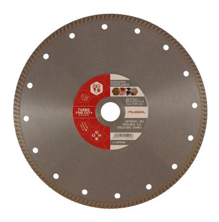 Disco de diamante Turbo Fine Cut para porcelánico, cerámica y grés, Ø 230, Mussol WTFC230