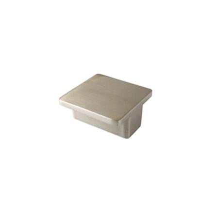 Tirador para mueble, forma cuadrada, 50 x 50 mm, níquel cepillado, Nesu