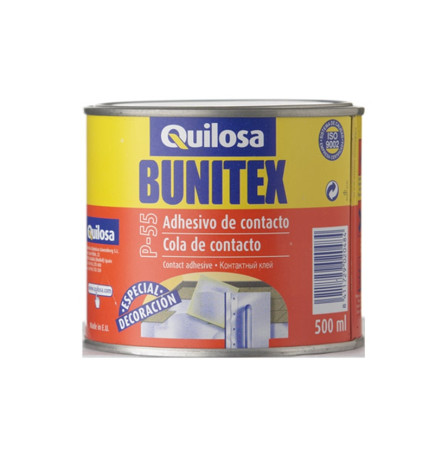 Adhesivo de contacto Bunitex P-55, sin tolueno, 500 ml, Quilosa