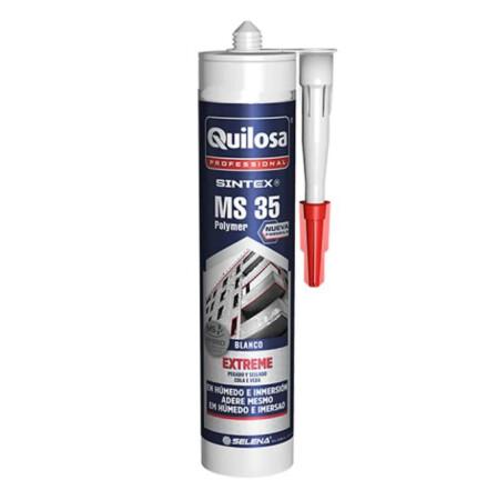 Adhesivo de polímero MS35, color blanco, 300 ml, Quilosa