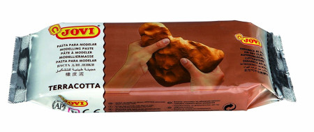 Pasta para modelar, color terracota, 500 gr, Jovi