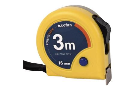 Flexómetro estándar, 3 m x 16 mm de Cofan 10523016