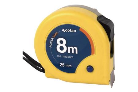 Flexómetro estándar, 8 m x 25 mm de Cofan 10528025